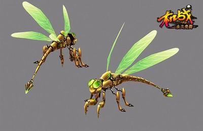 儿童画 教师范画蜻蜓