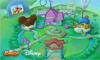 这幢可爱小屋的主人正是迪士尼世界中温柔,可爱的米妮.