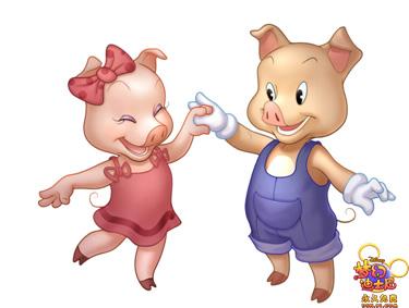 相较于原著《三只小猪》,游戏中的人物形象设定更Q更可爱.