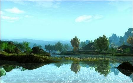 《剑网3》唯美画面 真实水面效果图解_网络游戏新闻_.图片