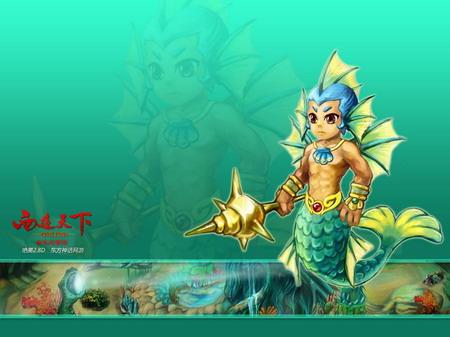 """《西游天下》新版""""海底世界"""",与海带mm相约奇妙深海,共续蓝色迷情!"""