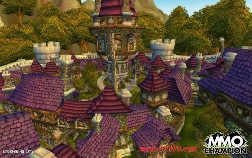 《魔兽世界》大灾变资料片中的暴风城景象
