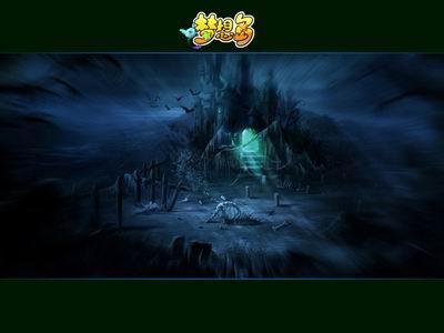 游戏欧式古堡原画