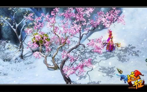 漫步桃花树下