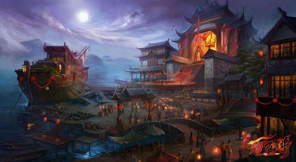 可以在长安城未央宫找到赤壁驿传使进入赤壁水战地图