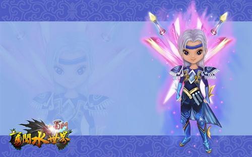 卡通人物形象,选择的是深爱玩家喜爱的七星套装,配以动感十足的飞剑