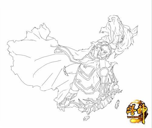 中国地图萌化!《斗神》影舞也来赶时髦