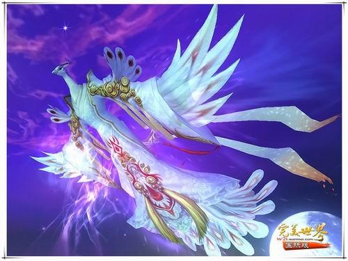 蓝色翅膀火焰素材图片