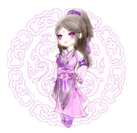 《九阴真经》玩家手绘萌妹图集