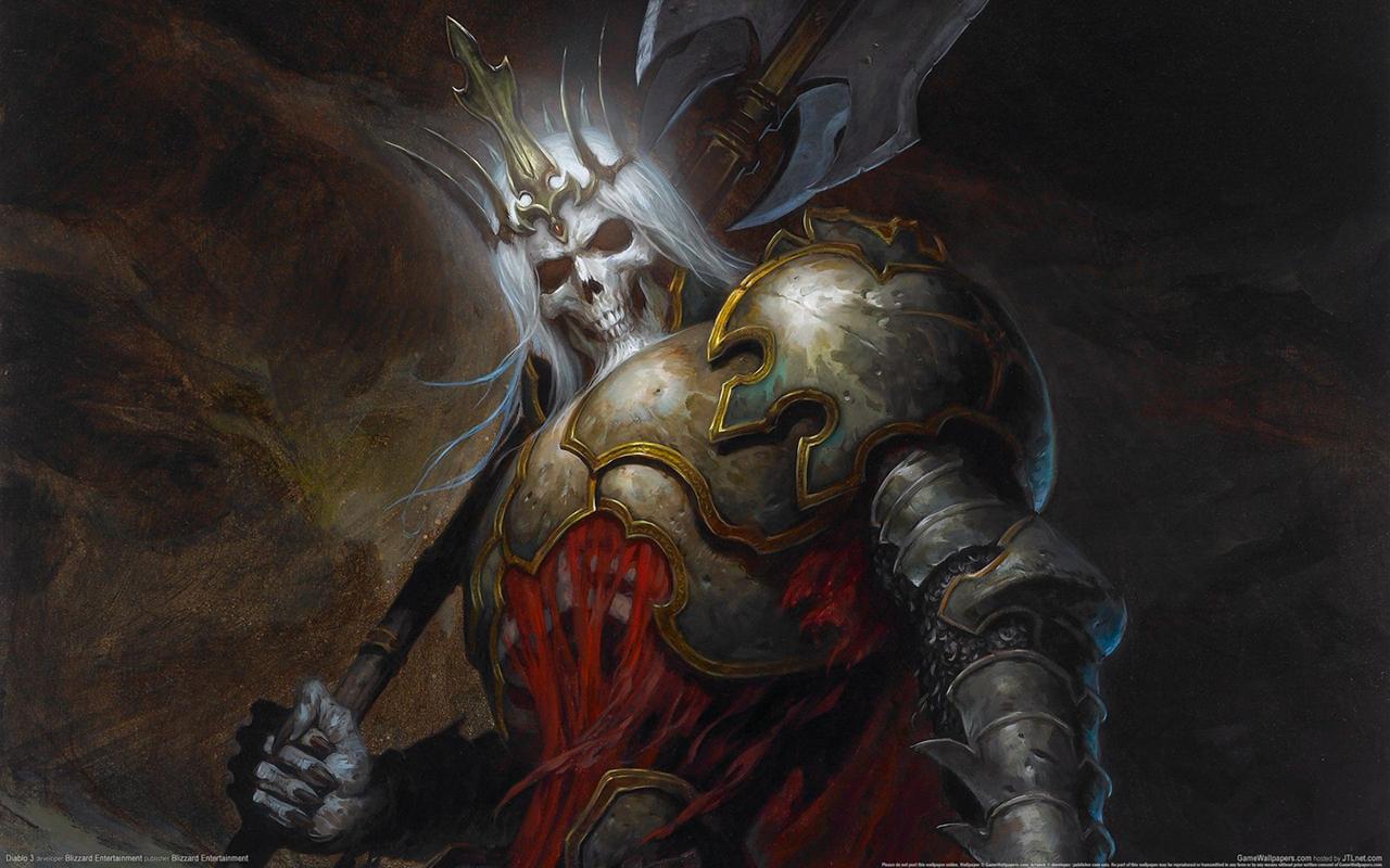 官方最新壁纸:骷髅王 —暗�破坏神3专区 17173单机�道