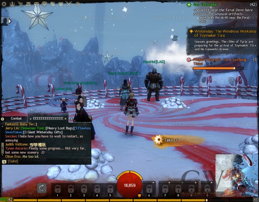 online game: Guild Wars 2:the skills of jumping in the