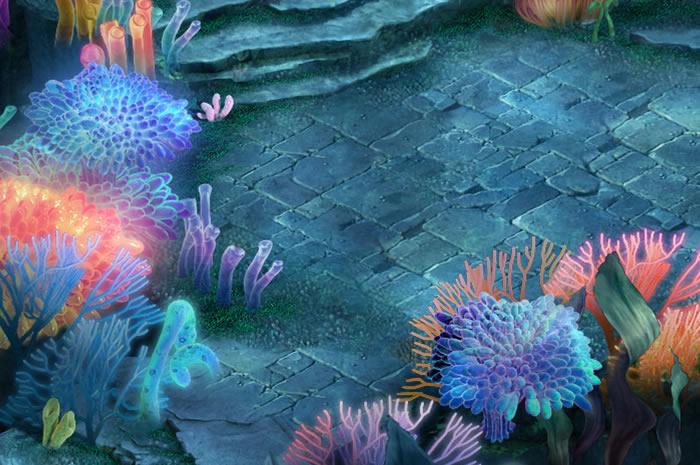 珊瑚丛生的海底世界