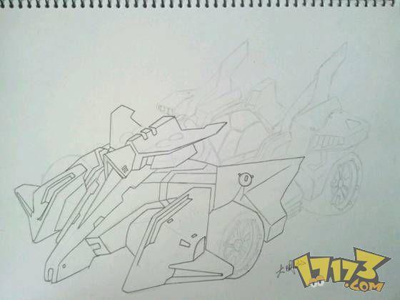 玩家手绘人气赛车《天启》