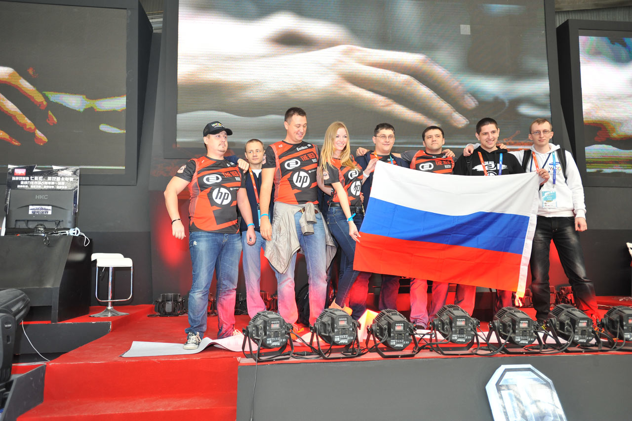 世界 for/俄罗斯队集体亮相