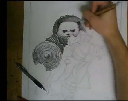 彪悍手绘:强人速绘魔兽世界熊猫人