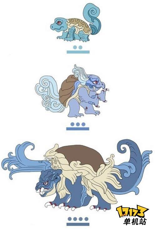 玛雅画版《口袋妖怪》可爱卡通瞬间变神话