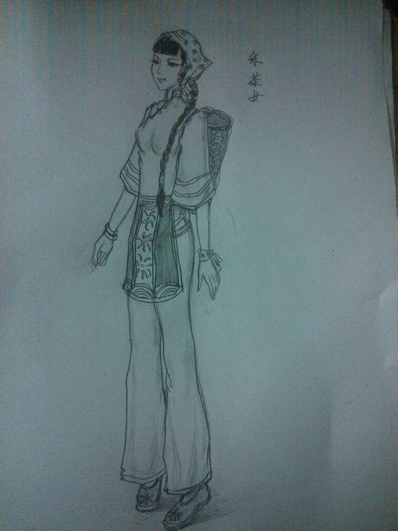 倩女幽魂玩家手绘 铅笔绘出创意新时装