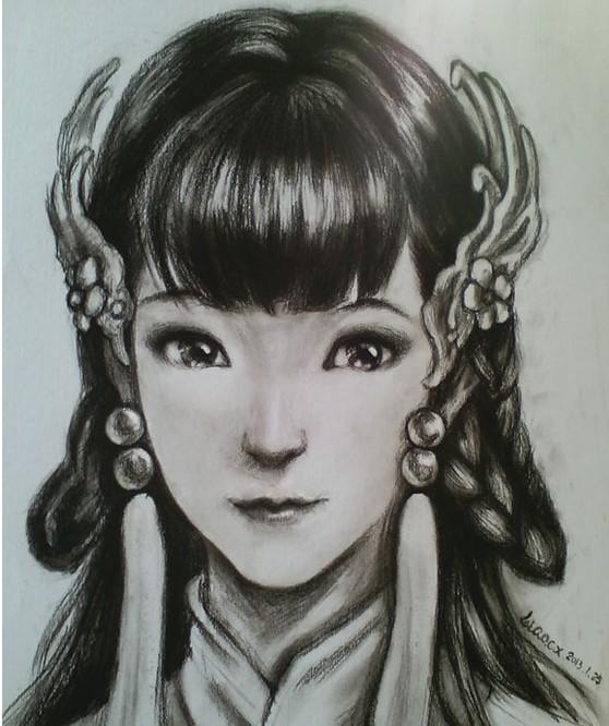 倩女幽魂玩家手绘女角色头像