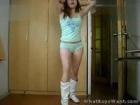 性感女主播透明吊带美女热舞诱惑自拍