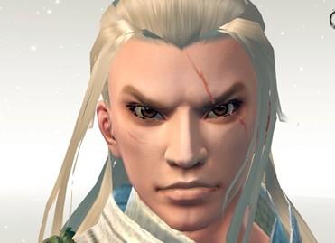 【捏脸数据代码下载】白发帅气男 带刀疤