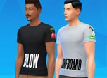 《模拟人生4》MOD  男士T恤MOD(两套)