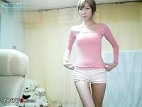 李由美齐b小短裤热舞韩国美女热舞自拍