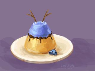 魔兽玩家美食画作:味道极好 大咕咕蓝莓蛋糕